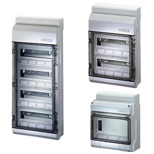 HENSEL Automatengehäuse Montage Aufputz Verteiler IP54 Sicherungskasten Auswahl