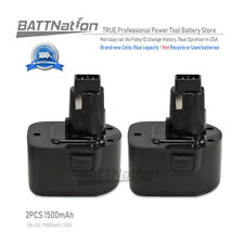 2x 12V 1.5 Amp Hour NiCad Pod Style Battery for Black & Decker, FireStorm PS130