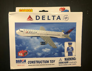 Construction Toy Delta Airlines Airplane 757 767 Building Brick Toy