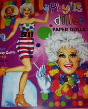 PHYLLIS DILLER, America's First Lady of Comedy, Paper Doll Book--SPECIAL PRICE!