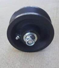 """4"""" inch V Groove Wheel For Rolling/Sliding Gates Includes Axle Bolt/Nut"""