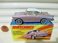 MATCHBOX 2010 LESNEY EDITION SUPERFAST Metal Base 1957 '57 Chevy Car New Boxed