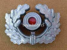 WWII GERMAN VISOR CAP MILITARY BADGE SILVER ARMY PANZER UNIFORM WREATH COCKADE