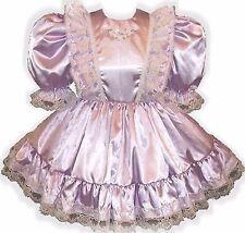 """""""Donna"""" CUSTOM Fit Lavender Satin Ruffles Adult Little Girl Sissy Dress LEANNE"""
