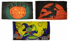 3x5 Happy Halloween 3 Pack Flag Wholesale Set #193 Combo 3'x5' Banner Grommets