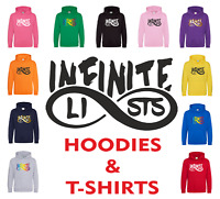 INFINITE LISTS Army Logo Kid's Boys Hoodie T-Shirt 7-13 Yrs Youtube Gamer Merch