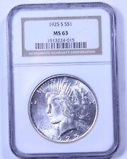 1925-S Peace Dollar : NGC MS63