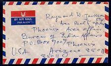 1990 Airmail Cover - India to Bureau of Indian Affairs in Phoenix, Arizona, USA