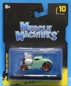MUSCLE MACHINES #10 - 1933 FORD COUPE 1/64 GREEN MAISTO