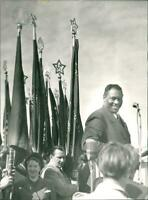 Paul Robeson who participated in the Communist demonstra - 8x10 photograph