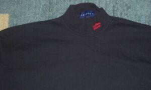 Vintage RARE Authentic BUFFALO BISONS Stitched/HEAVY Black TURTLENECK 2XL jersey