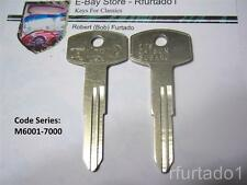 Key Blank fits Vintage Datsun Nissan Subaru 70's 80's  (DA23) See Code Series