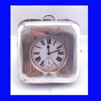 Edwardian Silver Goliath Patent 8Day Patent Military 17J Omega Pocket Watch 1901