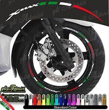 Kit Adesivi Cerchi Moto Ruote XMAX X-MAX X MAX tricolore italia flag