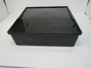 "Hot-Cases Hot Wheels/Matchbox Plastic Storage Box 16""X15.5""X5"" Black"