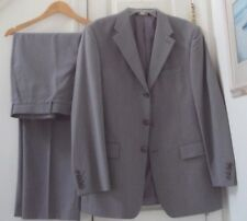 "NEW! PERRY ELLIS GRAY GREY PINSTRIPED 42R BLAZER JACKET/ 38""X32"" DRESS PANT SUIT"