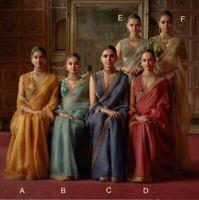 Saree Indian Sari Wear Wedding Designer Fancy Pakistani Silk Sc Traditional Wear