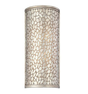 Eurofase Lighting Amano 4 Light Wall Sconce with Antique Silver Shade