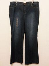 Fashion Bug Womens Jeans 22W (32 Inseam) Blue Stretch Denim Pants Straight Leg
