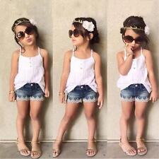 2pcs Child Kids Toddler Baby Girls Clothes T-shirt Tops Shorts Pants Outfits Set Yellow 3t