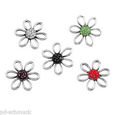 12 Mix Druckknöpfe Click Buttons Klicks schöne Blumen Wechselschmuck 18mm