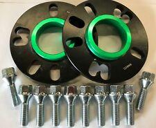 Espaciadores Rueda Aleación Negro 10 mm 73.1 - 66.6 + M14X1.5 Plata Pernos Mercedes 5X112
