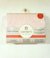 New ListingCrib Sheet Carter's Nursery Bedding Baby Girl Pink Knit Portacrib Sheet Fitted