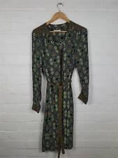 M&S Per Una Autumnal Aztec Belted Shirt Dress Boho Hippy Size UK 10