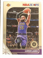 2019-20 NBA Hoops Premium Stock #87 Lebron James 'Los Angeles Lakers' Base Card