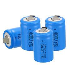 4PZ anmas POWER 4/5 Sub C SC 1.2V 1400MAH NiCd/NiMH Ricaricabile Batterie, Blu
