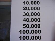 New Set Of Skee Ball Black Scoring Ring Numbers * SkeeBall *  High Digit Numbers