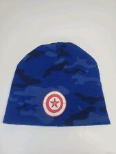 d527f808b4e Marvel Captain America The Winter Soldier Toque Beanie Style Hat Blue Camo