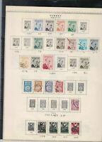 turkey issues of 1956-57 stamps page ref 18464