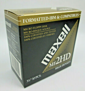 "Maxwell MF 2HD High Density Micro Floppy Discs 3.5"" PC 10 Pack 1.44 MB Formatted"