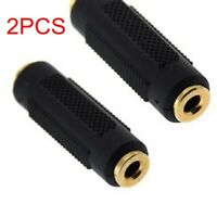 2x AUX 3.5mm Female Stereo Audio Adapter Plug Extension Connector Converter jack
