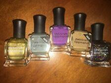 Deborah Lippmann Luxurious Nail Polish Set of 5 Full Size Sparkle/Glitter