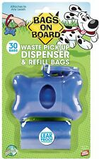 Bags on Board Bone Poop bag dog cat waste bag Dispenser with 30 Refill Bags