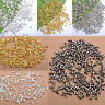 500/1000pc Silver/Golden/Dark Silver/Black Tube Crimp Spacer End Beads Wholesale
