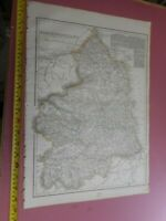 100% ORIGINAL LARGE NORTHUMBERLAND MAP BY CASSELL C1863 HAND COLOUR RAILWAYS