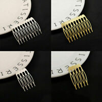 10pcs Woman Girl Gold/Silver Hair Comb Hair Clip Bride Pins Hair Clips W3G7