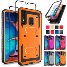 For Samsung Galaxy A10e A20 A50 Phone Case Cover With HD Glass Screen Protector