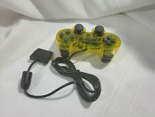 NEW Wired Twin Shock Game Controller - Clear Yellow Color - No Box - As is
