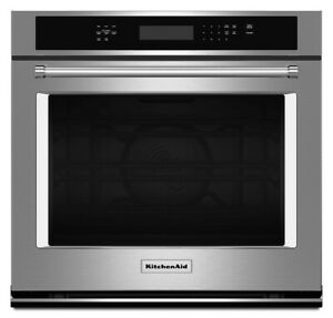 """KitchenAid KOSE507ESS 27"""" Single Electric Convection Wall Oven, Stainless Steel"""