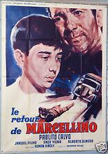 VINTAGE MOVIE POSTER 1955 LE RETOUR DE MARCELLINO - BARCOS DE PAPEL