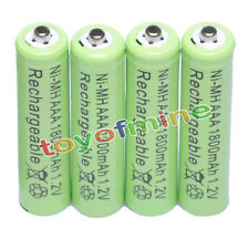 4xAAA pile 1800mAh 1.2V Ni-MH rechargeable 3A batterie verte pour MP3 Jouets RC