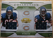 MATT FORTE/EARL BENNETT 2008 THREADS ROOKIE COLLECTION MATERIALS COMBO #455/500