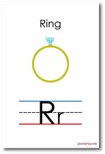 NEW LANGUAGE ARTS POSTER - The Letter R - Ring Spelling - Alphabet  POSTER