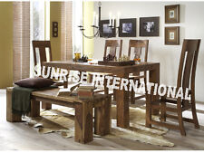 Modern Living Wooden Dining set ( 1 Table , 4 Chairs , 1 Bench )