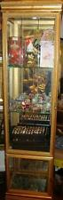 BEAUTIFUL IMPORTANT NYC ESTATE HAND CARVED WOOD GLASS LIGHT SHOWCASE VITRINE!!!