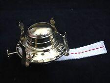 #2 Brass Plated Oil Lamp Burner Economy Lamp Part Screw On LB621 L4